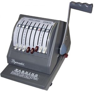 Paymaster 9000 Manual Cheque writer