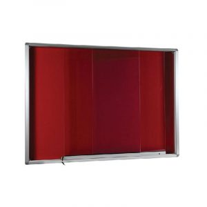 Aluminium Frame Sliding Glass Notice Board